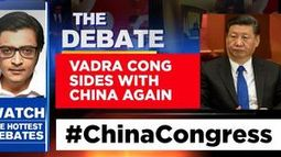 Vadra Congress sides with china again