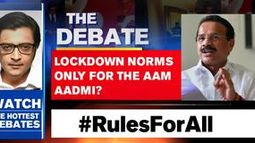 Lockdown norms only for the Aam Aadmi?