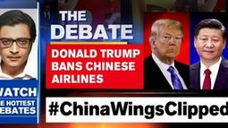 Donald Trump bans Chinese airlines
