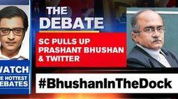 Supreme Court pulls up Prashant Bhushan & twitter