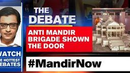 Anti mandir brigade shown the door