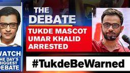 Tukde mascot Umar Khalid arrested