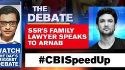 SSR's family lawyer speaks to Arnab