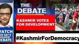 Kashmir votes for development