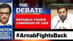 Arnab fights Congress' falsehoods