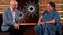 Anupam Kher's 'People' with Smriti Irani