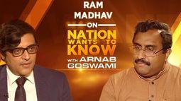 #RamMadhavSpeaksToArnab