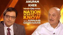 #AnupamKherSpeaksToArnab