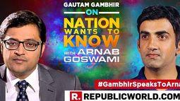#GambhirSpeaksToArnab