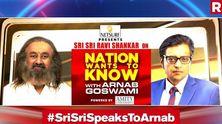 #SriSriSpeaksToArnab