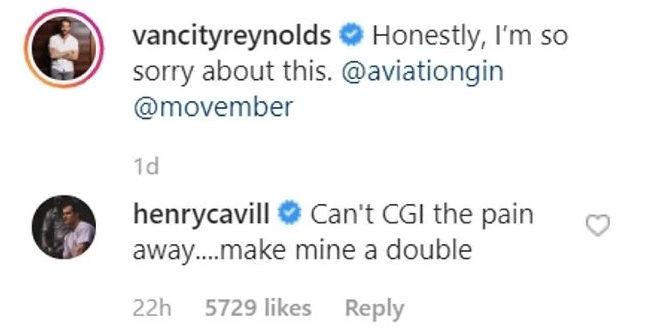 Ryan Reynolds and Henry Cavill