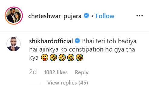 Shikhar Dhawan comment
