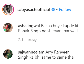 comments on Sabyasachi's post