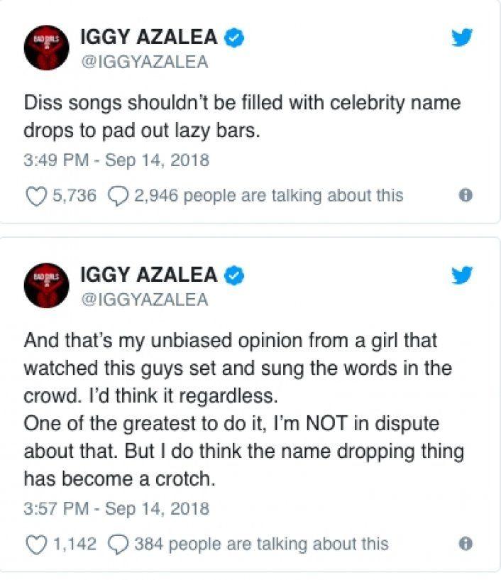 Iggy Azalea's tweet