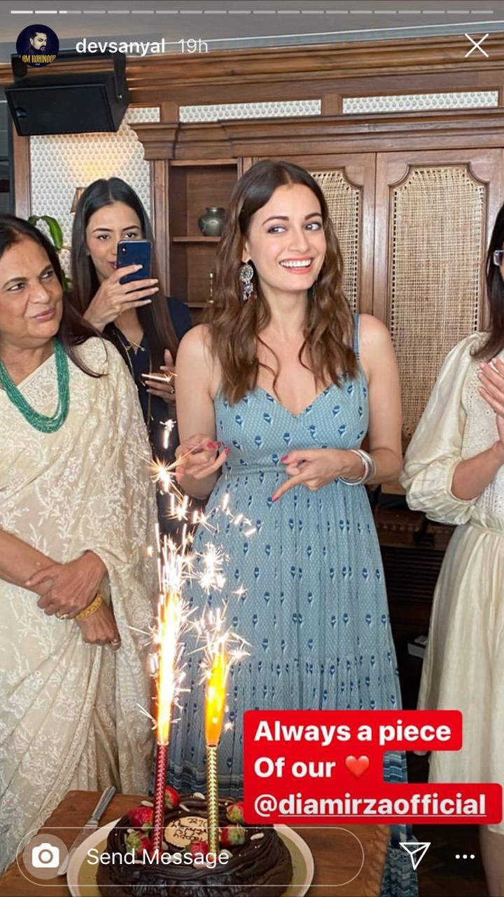 Dev Sanyal wishes Dia