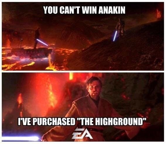 Obi wan high ground memes