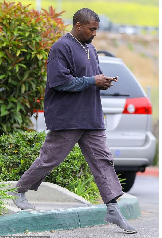 Kanye West's latest Yeezy design worn