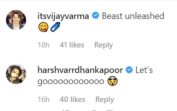 Comments on Farhan Akhtar's Instagram post