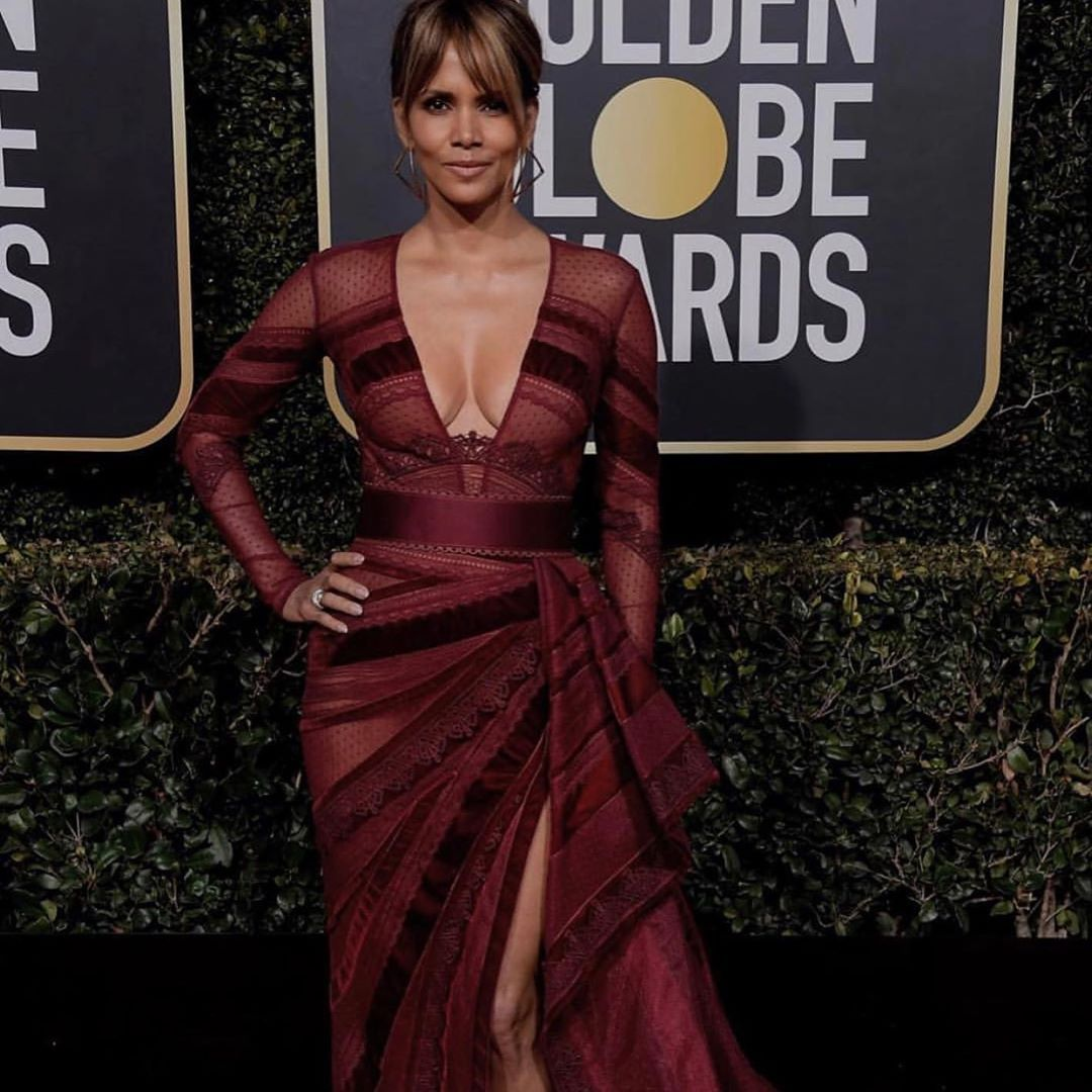 Halle Berry Goldne Globes 2019