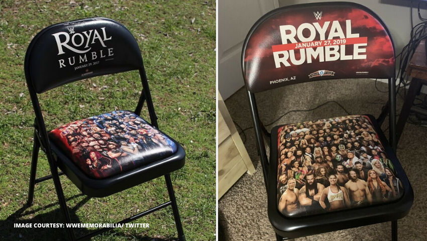 Royal Rumble Commemorative Chairs