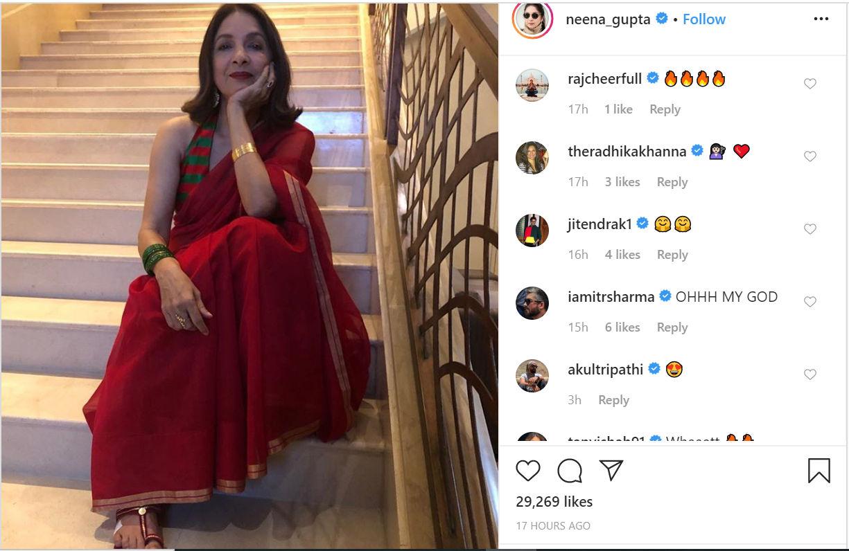 neena gupta's photos neena gupta on instagram neena gupta's movies