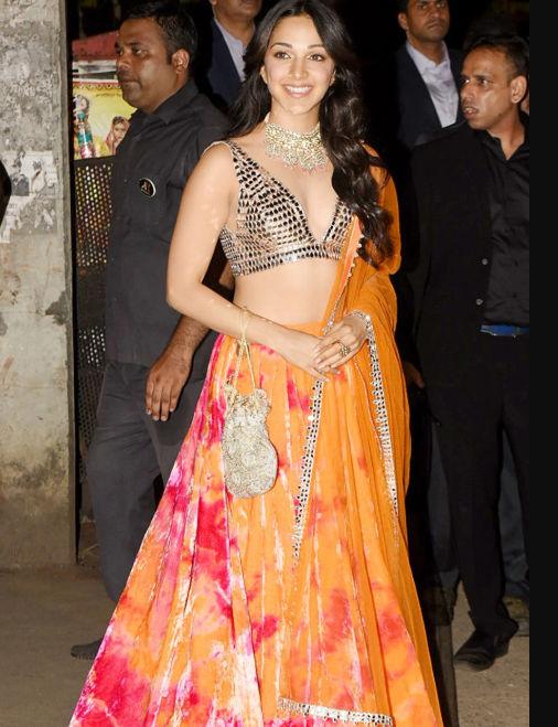 Kiara Advani in multicolour lehenga
