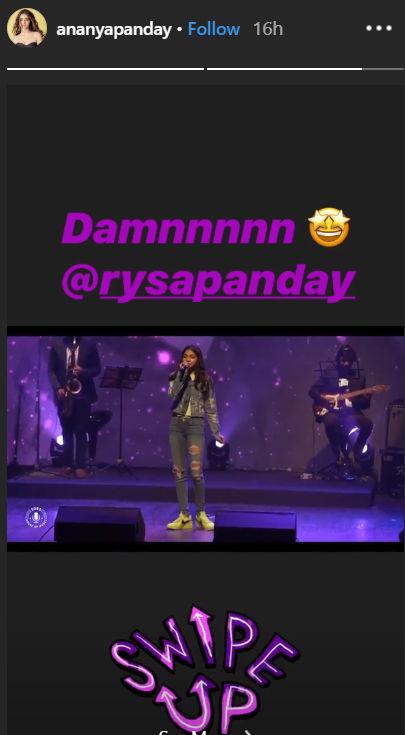 Ananya Panday's Instagram story