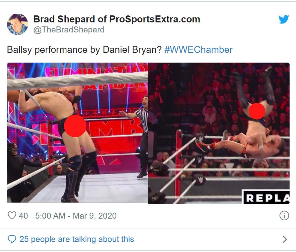 Daniel Bryan suffers wardrobe malfunction
