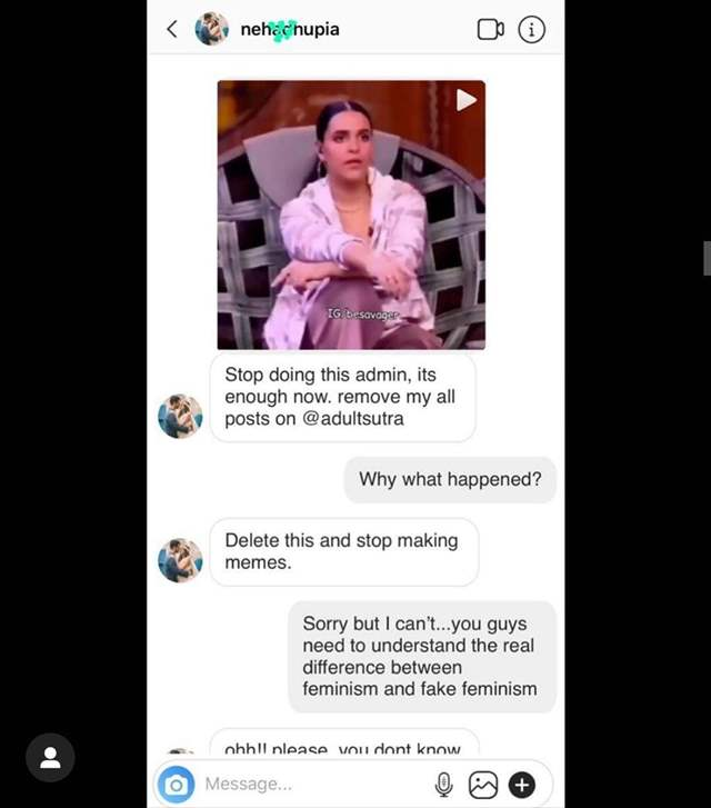 Neha Dhupia trolled, accused of being a `fake feminist`