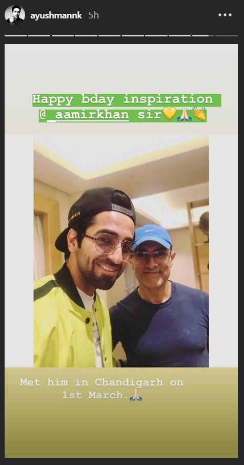 Aysuhmann Khurrana and Aamir Khan