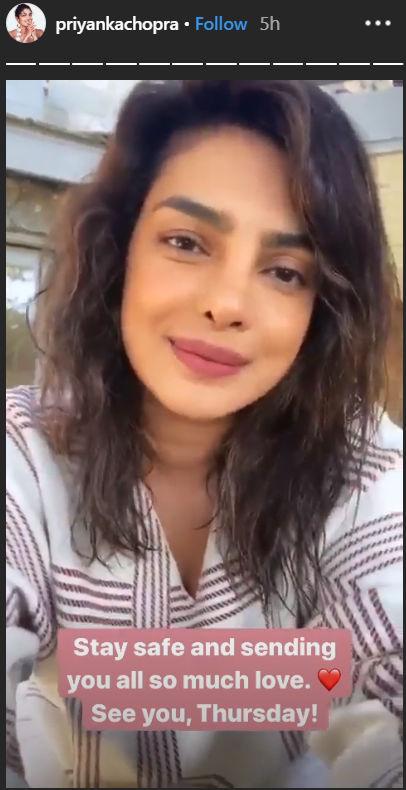 Priyanka Chopra's Instagram story