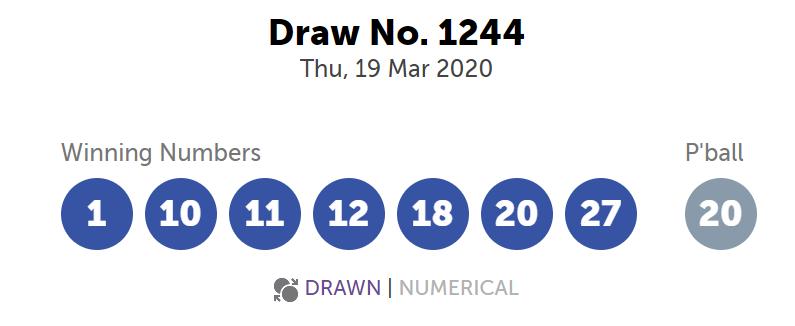 Powerball Australia 19 Mar 2020