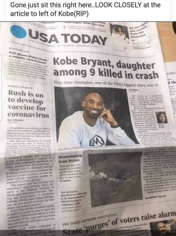 Kobe Bryant newspaper article