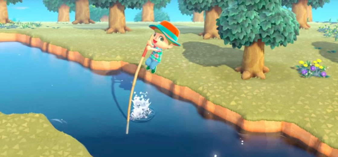 Does the vaulting pole break in Animal Crossing
