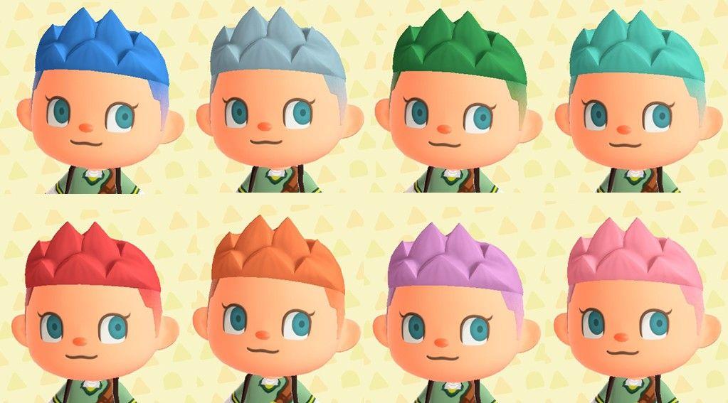 Animal Crossing stylish hair colours