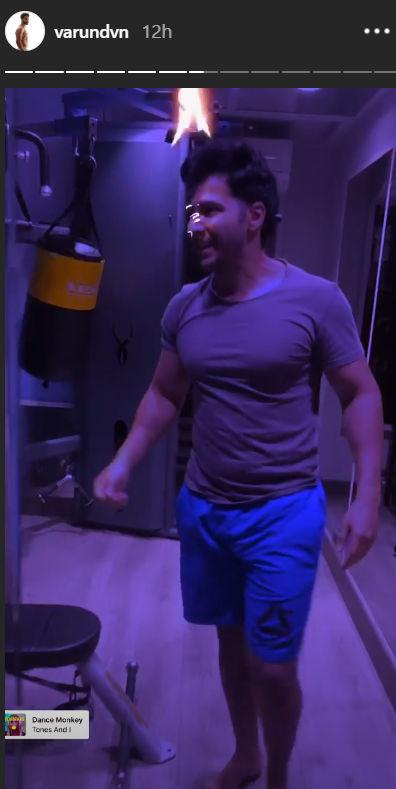 Varun Dhawan's workout videos