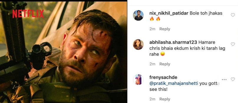 From Thor Bhaiya To Krrish Excited Fans Can T Wait For Chris Hemsworth S Extraction Republic World
