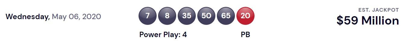 Powerball USA Lottery Winning Numbers For May 6, 2020 ...
