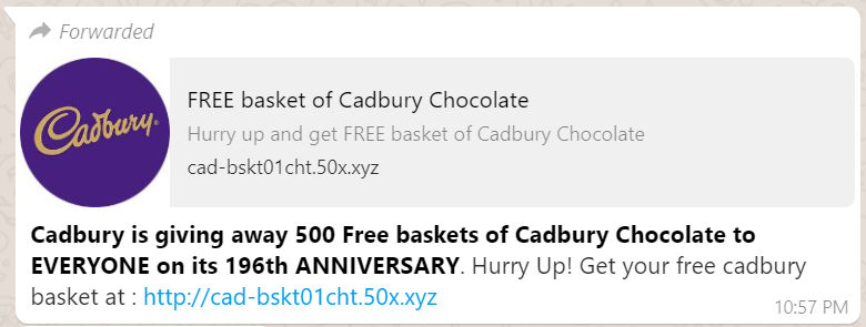 Fact Check: Is Cadbury giving away free chocolate baskets for their 196th  anniversary?