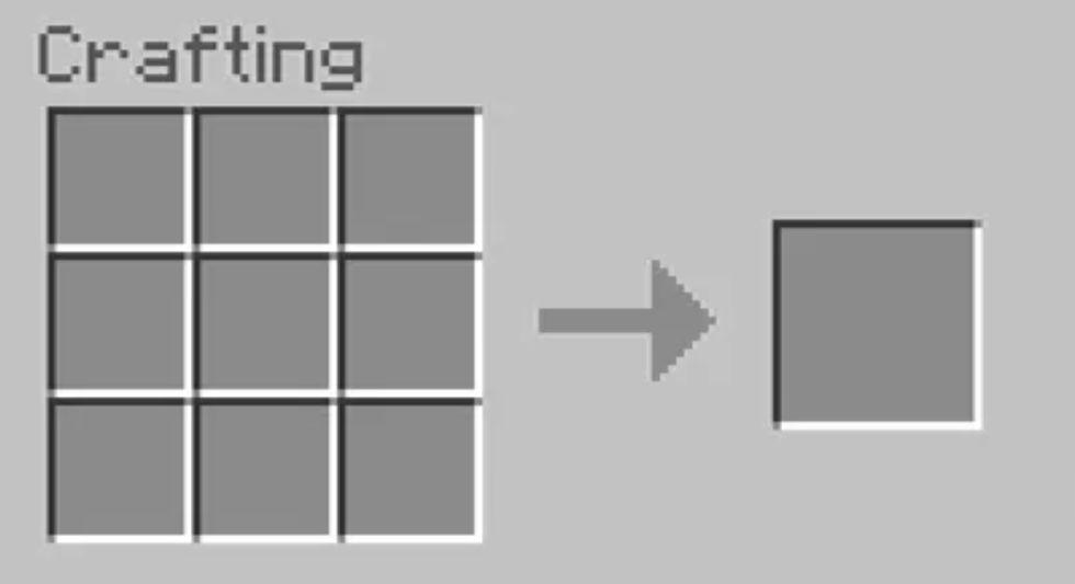 Craft map in Minecraft
