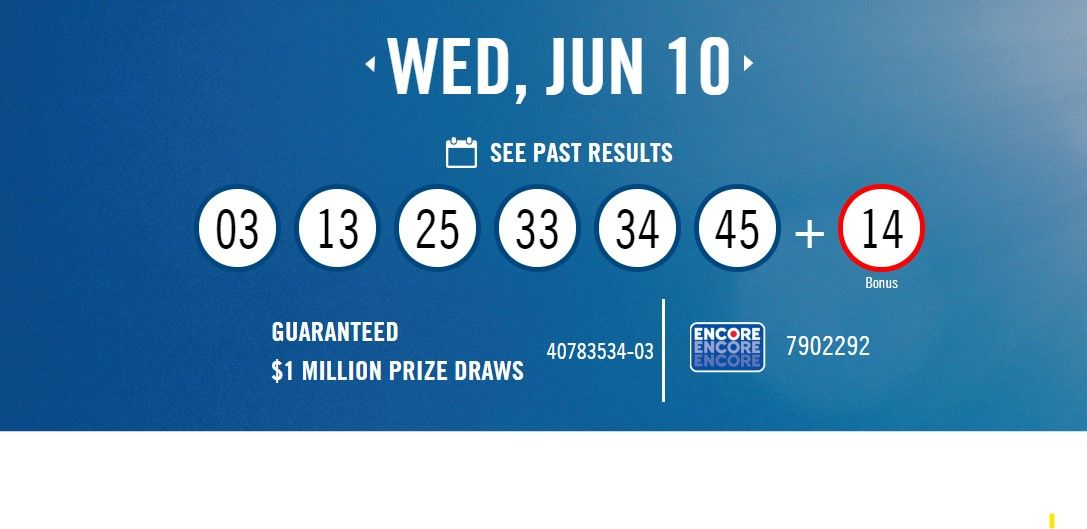 Lottery Canada Winning Numbers