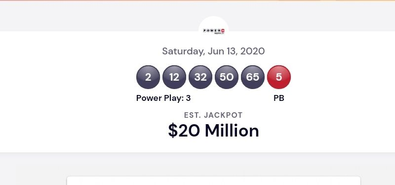 Powerball Usa Lottery Winning Numbers For June 13 2020 Winning Results