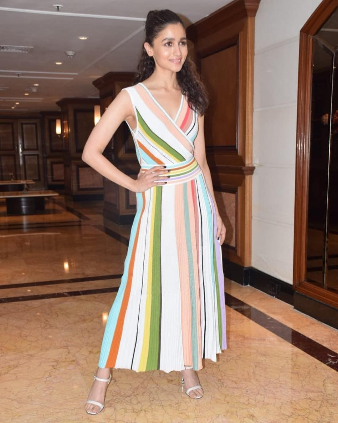 Alia Bhatt vs Karisma Kapoor: Who wore rainbow hued maxi dress better?