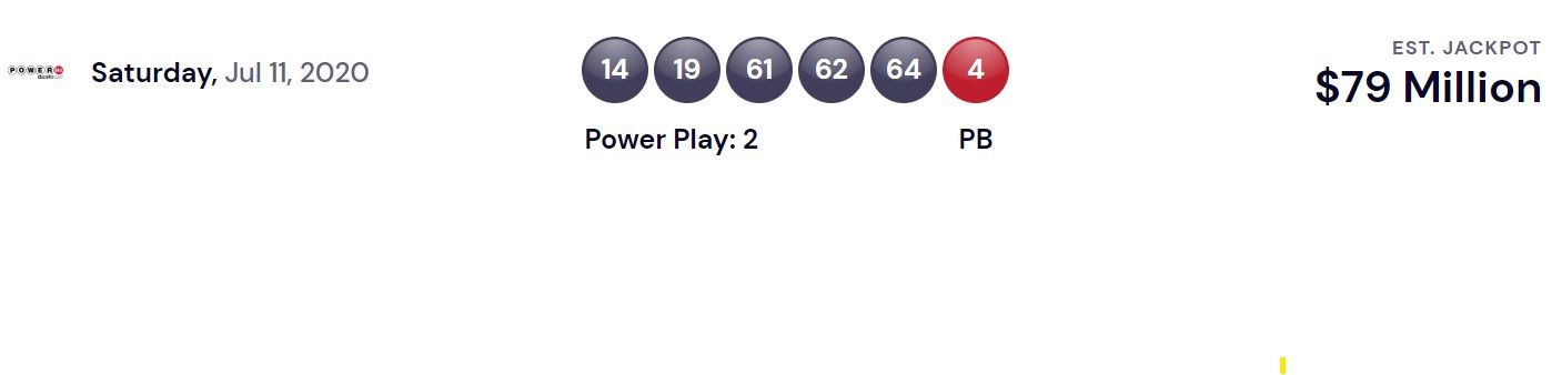 Powerball Usa Lottery Winning Numbers For July 11 2020 Winning Results Republic World