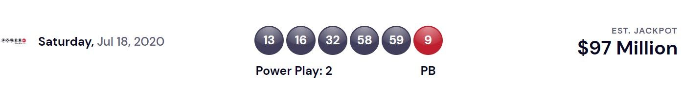 Powerball USA Lottery Winning Numbers For July 18, 2020 ...
