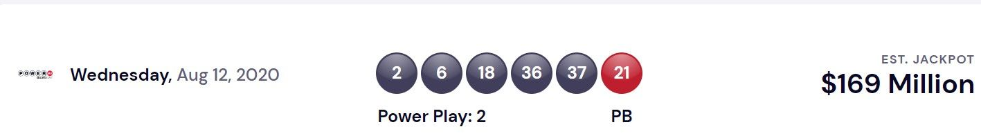 Powerball USA Lottery Winning Numbers For Aug 12, 2020 ...