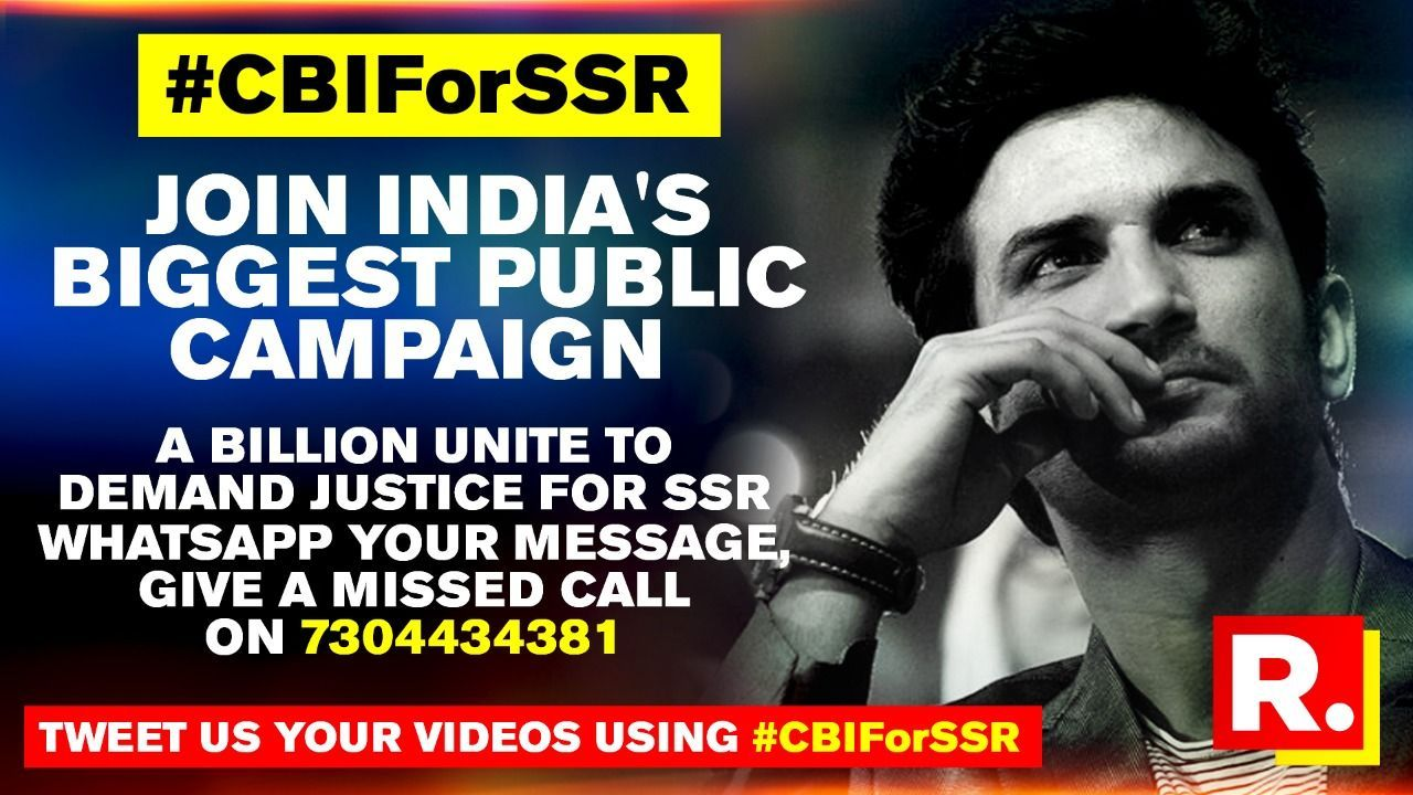 One Million And Counting Nation Unites To Demand Justice For Sushant Singh Rajput Republic World
