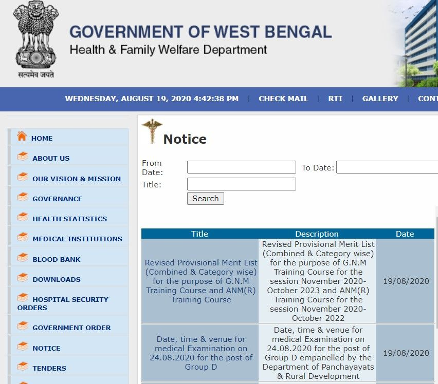 Gnm Merit List Provisional Is Released Check West Bengal Gnm Anm Merit List Direct Link