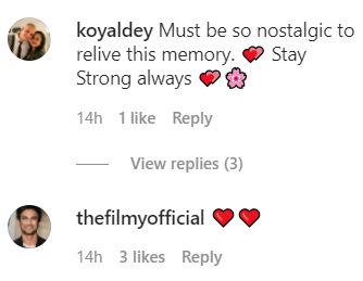 Comments on Babil Khan's Instagram