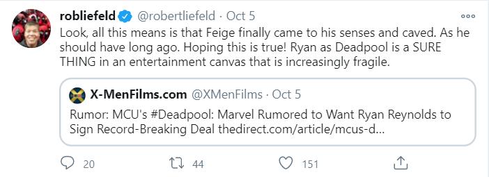 Rob Liefeld Says Marvel Boss Kevin Fiege Finally Came To His Senses Amid Deadpool Rumour Robert liefeld ( /ˈlaɪfəld/, anaheim, 03 de outubro de 1967) é um artista de quadrinhos americano. rob liefeld says marvel boss kevin